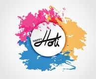 Holi spring festival of colors greeting  elements for card design. Happy Holi colorful design Stock Photography