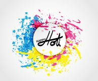 Holi spring festival of colors greeting. Elements for card design , Happy Holi colorful design Stock Photography
