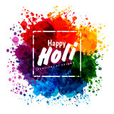 Holi spring festival of colors vector design. Element and sample text. Can use for banners, invitations and greeting cards Stock Image