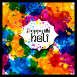 Holi spring festival of colors vector design element and sample Stock Images