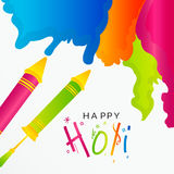Holi. Vector illustration of a Background for Indian Festival Holi celebration Royalty Free Stock Images