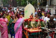 Holi von Hindus in Dhaka, Bangladesch Stockbilder