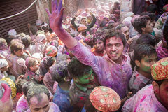 Holi in Vrindavan. The most colourful celebration in the world Royalty Free Stock Photo