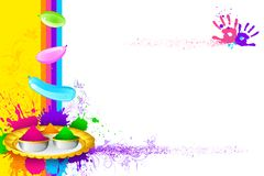 Holi Wallpaper Royalty Free Stock Image
