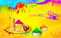 Holi wallpaper. Illustration of happy Holi wallpaper with colors and sweet vector illustration