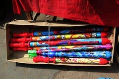 Holi Water Guns on Street. royalty free stock photography