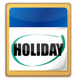 Holiday. Calendar illustration design isolated over white Royalty Free Stock Photography