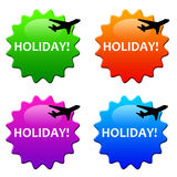 Holiday. Icons: flying off to a well deserved vacation far away Royalty Free Stock Image