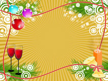 Holiday. Goblets with drink on festive new year's background Royalty Free Stock Photo