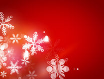 Holiday abstract background, winter snowflakes Stock Image