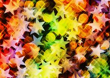 Holiday abstract backgrounds. With dreamy light stars Royalty Free Stock Image