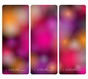 Holiday abstract banners Stock Image