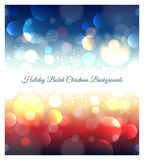 Holiday abstract bokeh christmas background Royalty Free Stock Image