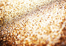 Holiday abstract glitter background with blinking lights Stock Image