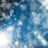 holiday abstract glitter background with blinking stars and fall Royalty Free Stock Photos