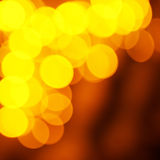 Holiday abstract red and yellow lights Stock Photo