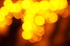 Holiday abstract red and yellow lights Stock Images