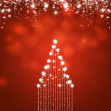 Holiday Abstract Xmas Tree Red Holiday Royalty Free Stock Photos