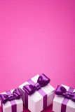 Holiday accessories on pink Stock Photography