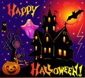 Holiday adduction pumpkin house cat lightning. Illustration holiday adduction pumpkin house cat lightning Royalty Free Stock Image