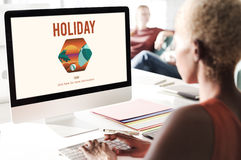 Holiday Adventure Summer Technology Summer Concept Royalty Free Stock Photo