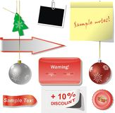Holiday advertising stickers Stock Photography