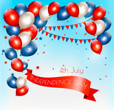 Holiday American background with colorful balloons Royalty Free Stock Photo