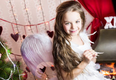 Holiday angel costume Stock Photography