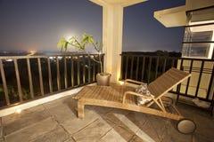 Holiday apartment balcony Stock Photography