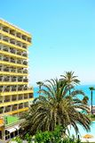 holiday apartment block in Torremolinos, Spain Stock Photo
