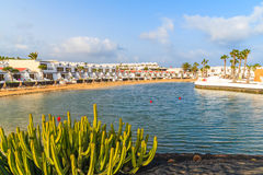 Holiday apartments in Costa Teguise town Stock Photos