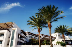 Holiday apartments in Lanzarote Stock Images