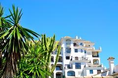 Holiday apartments in La Duquesa marina in Spain. Holiday apartments in La Duquesa marina, Costa del Sol, Spain stock photos