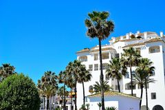 Holiday apartments in La Duquesa in Spain. Holiday apartments in La Duquesa, Costa del Sol, Spain royalty free stock images