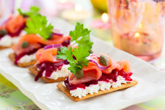 Holiday appetizer Stock Images