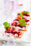 Holiday appetizer stock photography