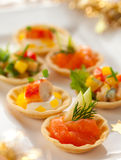 Holiday Appetizers Stock Photography