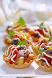 Holiday Appetizers on the platter Royalty Free Stock Images