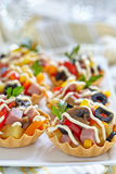 Holiday Appetizers on the platter Stock Images
