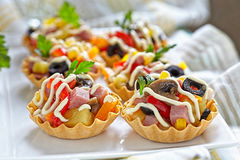 Holiday Appetizers on the platter Royalty Free Stock Image