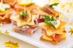 Holiday Appetizers. Royalty Free Stock Images