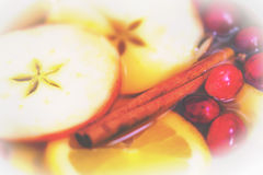 Holiday Apple Cider Background Royalty Free Stock Photos