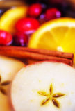 Holiday Apple Cider Background Stock Photography