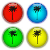 Holiday aqua buttons Stock Photography
