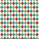 Colorful Holiday Argyle Seamless Pattern. Argyle background pattern for a variety of uses. EPS file uses global colors for easy color changes Stock Photography