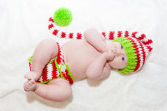 Holiday Baby on Back Stock Images