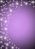 Holiday bacground. Violet holiday background with stars and circles Royalty Free Stock Photography