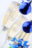 Holiday background. With glass of fizz Royalty Free Stock Photo