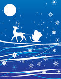 Holiday background. With Santa Claus Stock Photo
