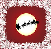 Holiday background. With Santa Claus Stock Photos